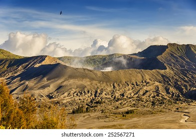 Morning scenery of Mount Bromo crater