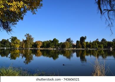 Morning scenic view at Hart Memorial Park, Bakersfield, CA.
