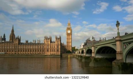 morning shot of big ben in london