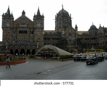 Morning shot of Victoria Terminal (railway station)(CST) in mumbai