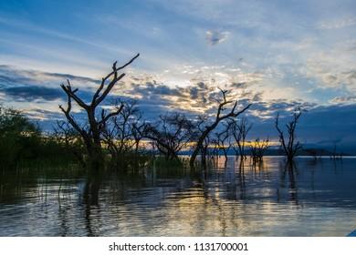 Morning skies in lake baringo kenya