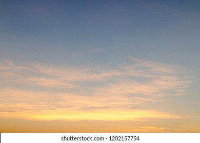 Morning sky before sunrise. Yellow sky mixed blue.