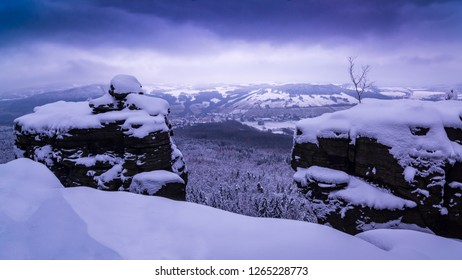 Morning snowy landscape