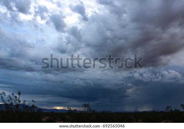 Morning storm over the desert