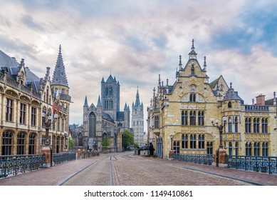 Morning in the streets of Ghent - Belgium
