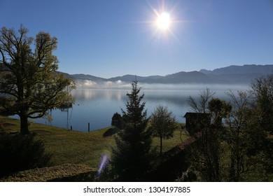 Morning sun, Attersee lake