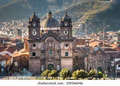 Morning sun rising at Plaza de armas, Cusco, City,Peru
