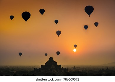 Morning Sunrise at Angkor Wat Hot Air Balloon Experience in Siem Reap Cambodia