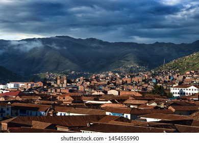 Morning sunrise in Cusco city - Peru