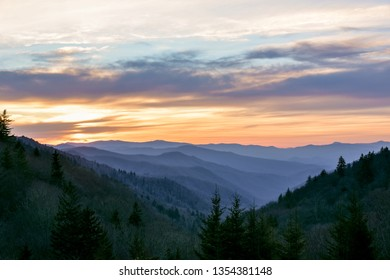 Morning sunrise in the Great Smoky Mountains