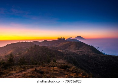 Morning sunrise horizon at Mount Prau