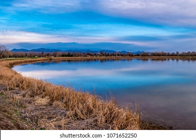 Morning Sunrise on Lake in Denver, Colorado