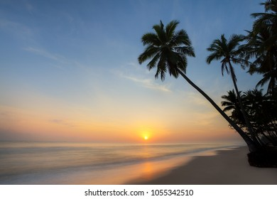Morning sunrise at one of the beautiful beaches in Thailand.