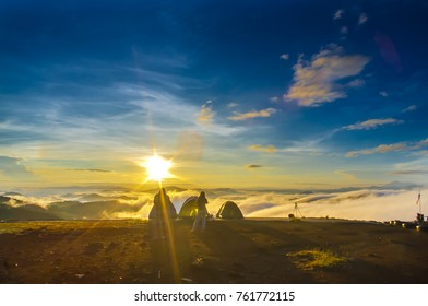 morning sunrise at ranau paragliding park