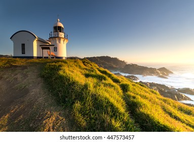 Morning sunrise at the Tacking Point Lighthouse at Port Macquarie, NSW, Australia