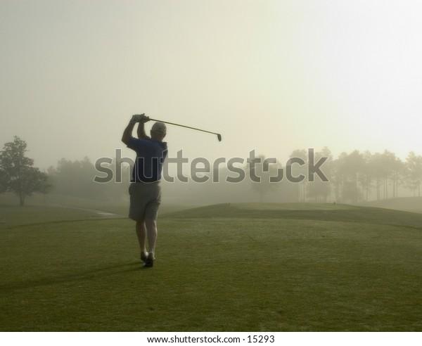 Morning tee shot