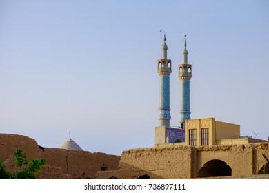 morning time of kabir Jameh Mosque, Jame Mosque of Yazd, Iran