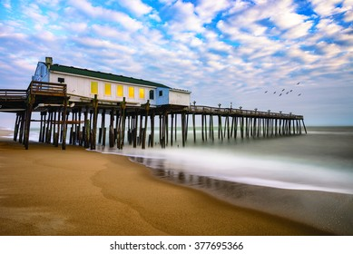Morning time at Kitty Hawk fishing pier along North carolina's Outer Banks