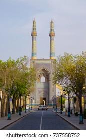 morning time view of Kabir Jameh Mosque, Jame Mosque of Yazd, Iran