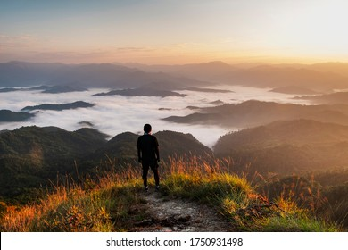 morning time view of Monk Lui Luang, Doi Thule, Tak province, Thailand, 1350 msl