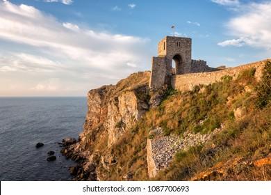 A morning view of the ancient fortress Kaliakra near Kavarna, Bulgaria