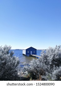 the morning view of Crawley Edge Boatshed House in Perth Suburb. one of the major tourists attraction when visiting Perth.