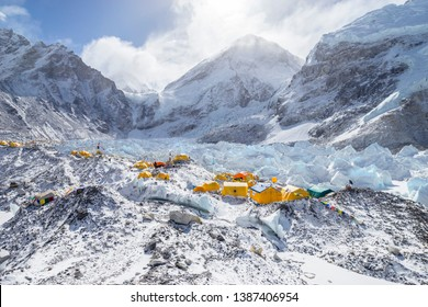 Morning view at Everest Base Camp.