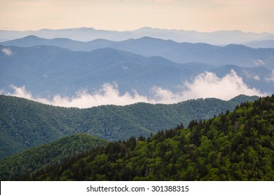 Morning View of Great Smoky Mountains National Park