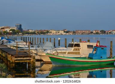 morning view of the harbor, Grado, Italy