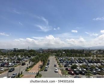 Morning view from Kota Kinabalu International Airport, Sabah, Borneo