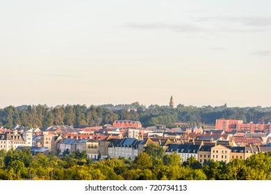 Morning view of Northampton Town cityscape Upton England, UK