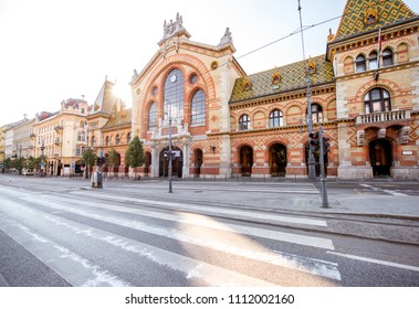 Morning view on the famous Great market hall building in Budapest city, Hungary