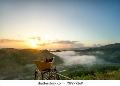 Morning View from Panguk Hill, Kediwung, Yogyakarta