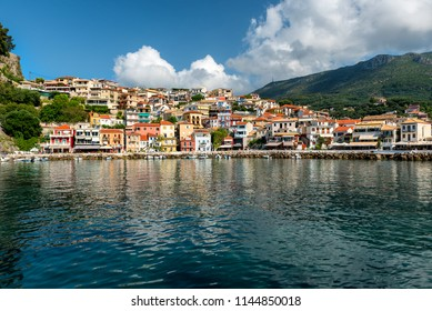 Morning view of Parga, coastal Greek town at Ionian Sea
