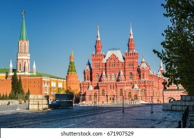 Morning view of Red Square, Moscow, Russia.
