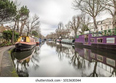 Morning view of Regents canal, London, UK