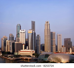 Morning view of Singapore's Central Business District