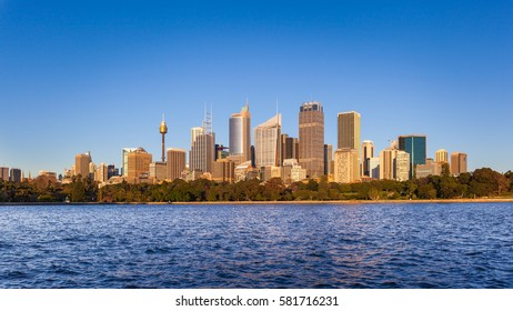 Morning view of the Sydney central business district, Sydney, Australia.