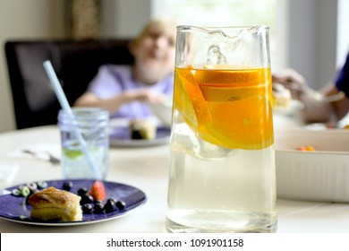 Morning Water at the Breakfast Table