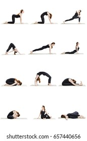 Morning yoga sequence of 12 poses