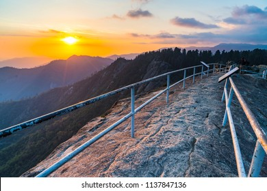 moro rock in the evening in sequoia national park,california,usa.
