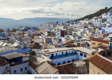Moroccan blue city