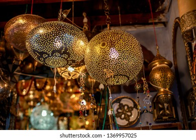 Moroccan chandeliers and lanterns