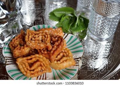 """Moroccan cookies for ramadan called """"Chebakia"""""""
