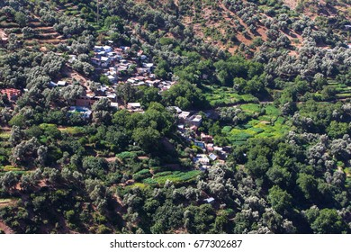 Moroccan Countryside Landscape in Summer, taberrant, Moroccan rural life,