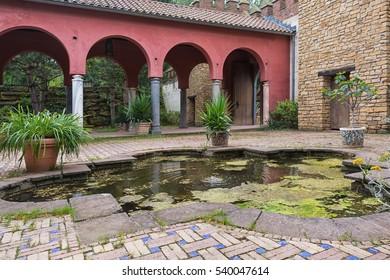 Moroccan garden copy in the park Mondo Verde, Netherlands