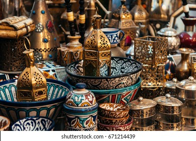 moroccan handicrafts at shop