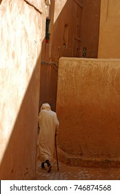 A Moroccan in a hurry for home, Fes, Morocco, North Africa. February 2009 year.