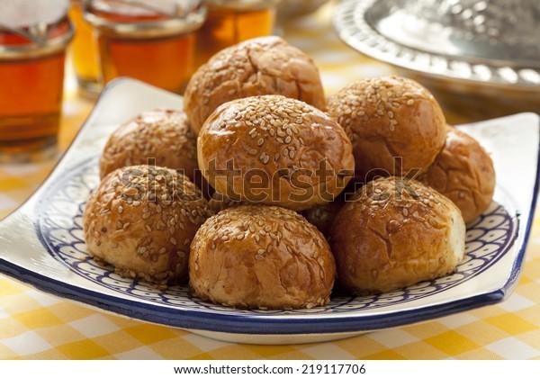 Moroccan krachel on a dish