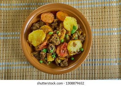 Moroccan, Lamb or Beef Tagine with Potatoes